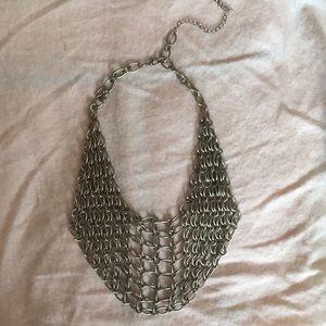Bib chain statement necklace